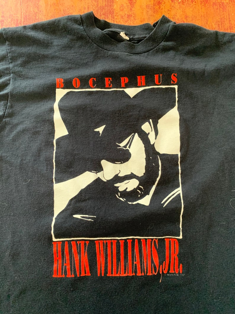 Vintage Hank Williams Jr Bocephus Pure Hank The Tour \u201891 Shirt Fits Size Medium