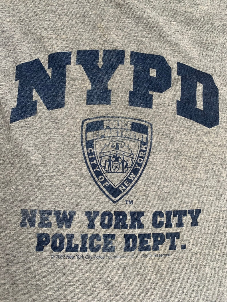 Vintage NYPD New York City Police Department T Shirt Size Large Worn Patina Nice