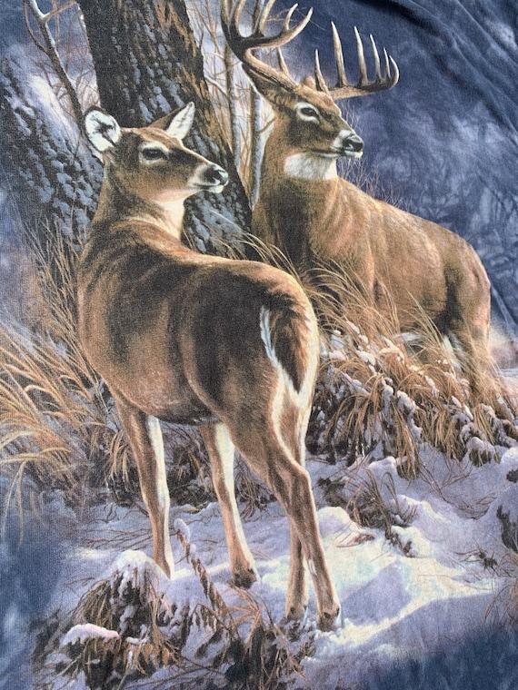Vintage Buck & Doe Deer The Mountain Allover T Shi