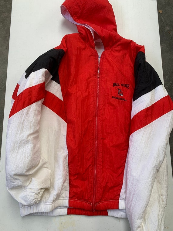 Vintage 90s Ball State University Cardinals Puffer