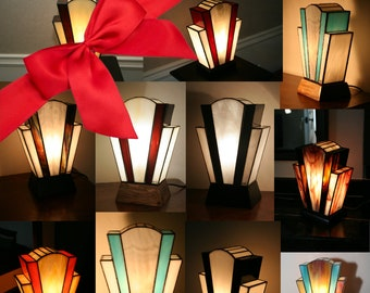 "Gift: Treat or treat yourself to a lamp Art Deco custom lamp Tiffany stained glass Tiffany, ""the last time"", ""Nude"" table lamp"