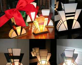 "Gift: Treat or treat yourself to a lamp Art Deco custom lamp Tiffany, ""the last time"", ""First"" table lamp"