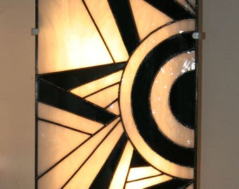 "Wall Art Deco stained glass Tiffany, ""Ycara"""