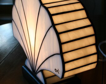 "Tiffany lamp, art deco lamp, Tiffany stained glass, ""Coquillage"" lamp"