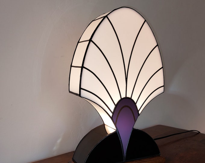 """Featured listing image: Art Deco Lamp Stained Glass Tiffany """"Palmette 1919"""""""