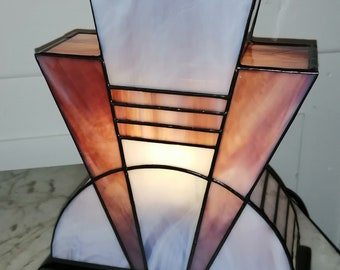 "Tiffany ""Amethyst"" Art Deco Lamp (TS)"