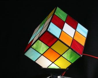 "Tiffany Art Contemporary Art ""RuVik's Cube"" lamp mod. 2020"