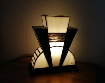 "Tiffany ""Precious"" Art Deco Glass Lamp (TS)"