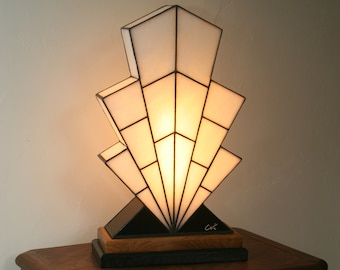 "Very large Tiffany lamp, art deco lamp, Tiffany stained glass, lamp to pose ""1921"""