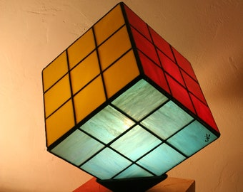 "Tiffany Art Contemporary Art ""RuVik's Cube"""