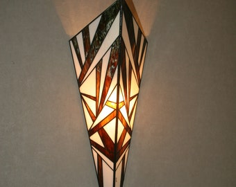 Very large Applique (64 cm) wall Art Deco Içara III - stained glass Tiffany.