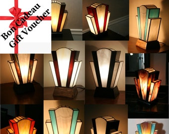 """Gift: Treat or treat yourself to a lamp Art Deco custom lamp Tiffany stained glass Tiffany, """"the last time"""", """"Nude"""" table lamp"""