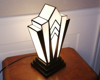 "Tiffany ""1924"" B Art Deco Glass Lamp."