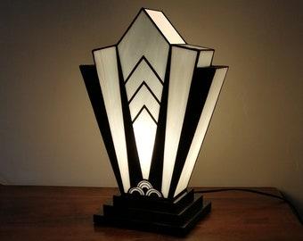 "Lamp XL Art Deco Stained Glass Tiffany ""1924"" B.N. XL"