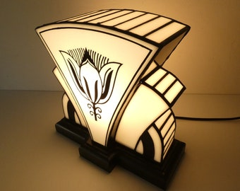 """Art Deco lamp """"1910"""" Stained glass Tiffany"""