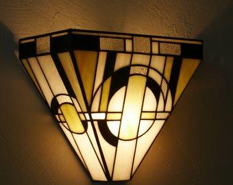 Applique tiffany art déco vitrail tiffany tableau lumineux etsy