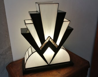 "Great Lamp Art Deco Tiffany ""1922"" NBO 40 cm"
