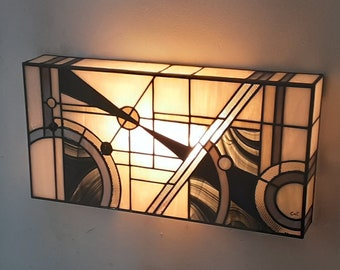 "Tiffany ""Edora III"" Art Deco Wall Apply"