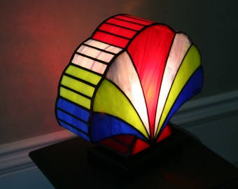 "Tiffany lamp, art deco lamp, Tiffany stained glass, ""Shell 2"" lamp"