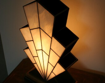 "Very large Lamp Art Deco Window Tiffany ""1921"" N.B."
