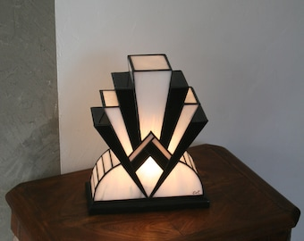 """Tiffany lamp, Art Deco lamp, Tiffany stained glass, Table lamp """"1922"""" BNG 30 cm"""