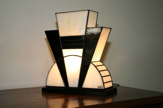 Tiffany Lampe Tiffany Art Deco Lampe Tiffany Fenster Etsy