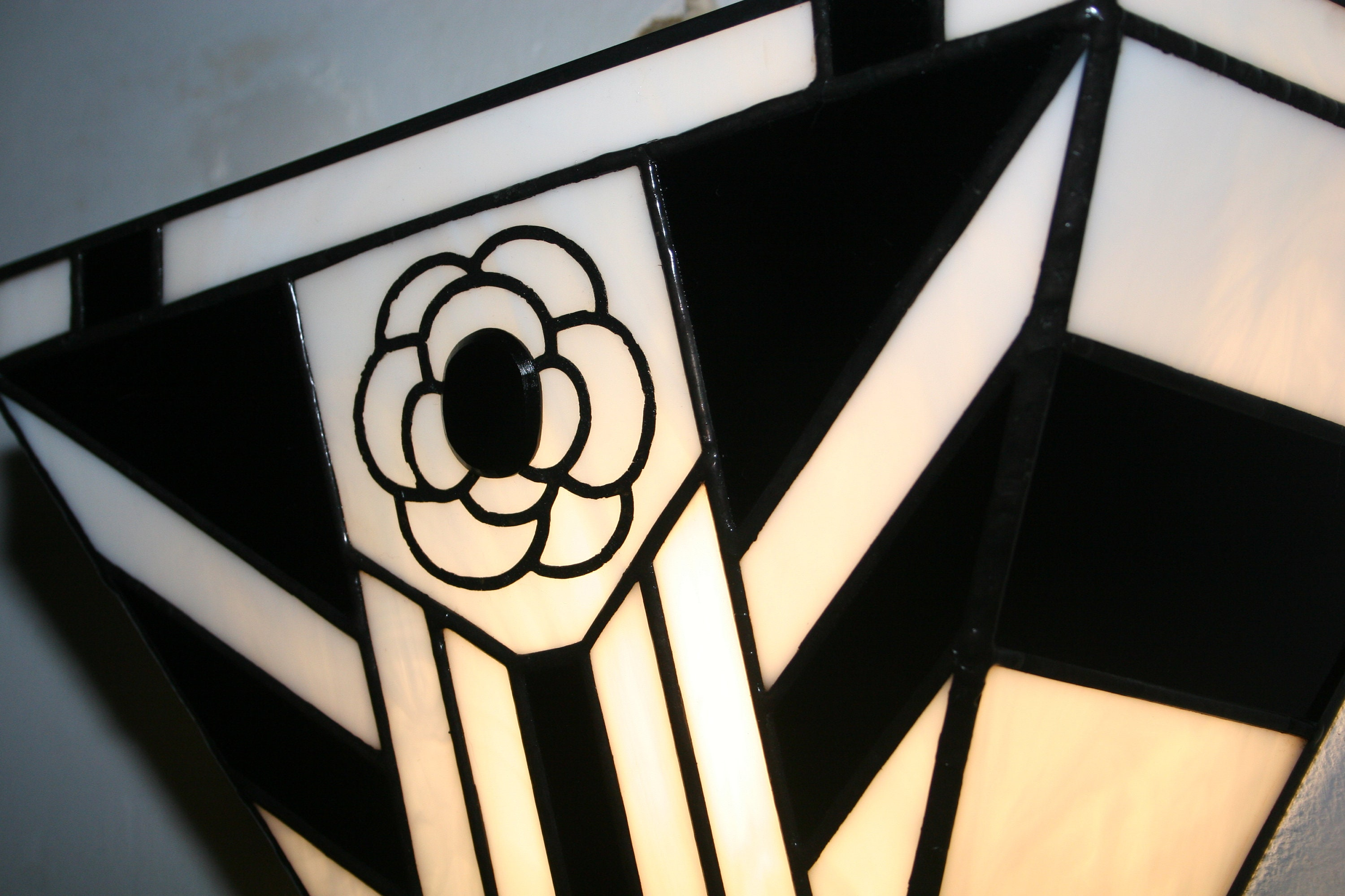 Applique wall art deco applique tiffany stained glass tiffany etsy