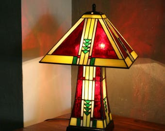 """Tiffany """"The First"""" Art Deco Glass Lamp"""