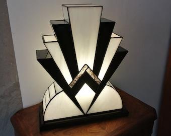 "Great Lamp Art Deco Tiffany ""1922"" NBO 40 cm"