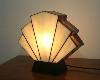 "Tiffany ""Flabellum Amber"" Art Deco Lamp"