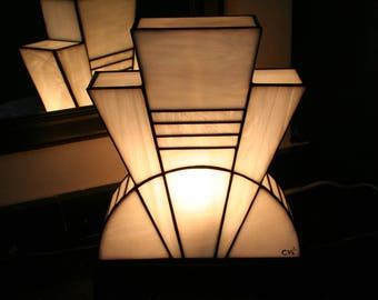"Tiffany ""White Purity"" Art Deco Lamp (TM)"