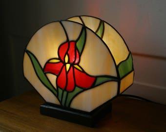 "Tiffany ""Iris"" Art Nouveau Window Lamp"
