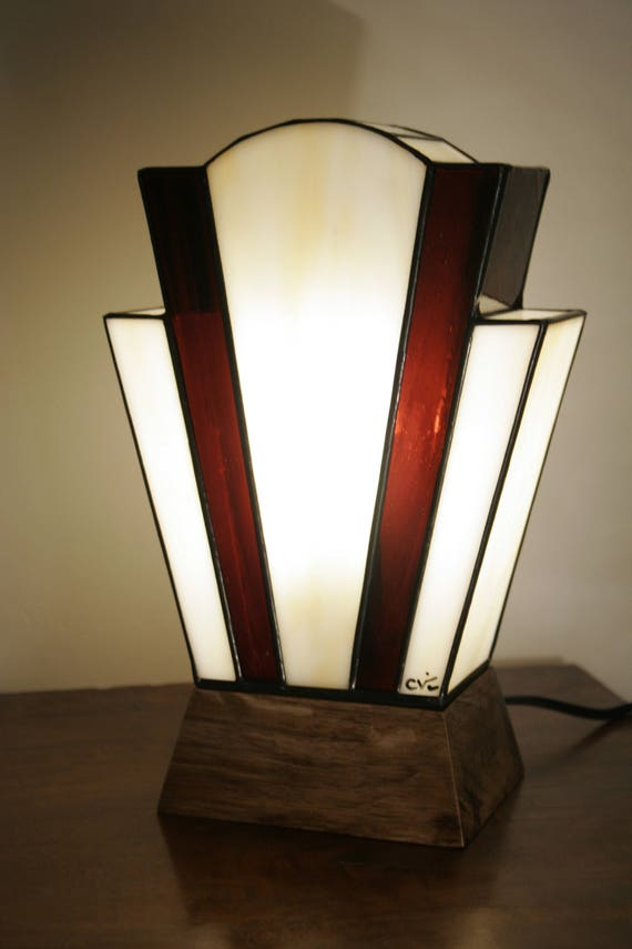 Tiffany Lampe, Art-Deco-Lampe, Tiffany Buntglas, \