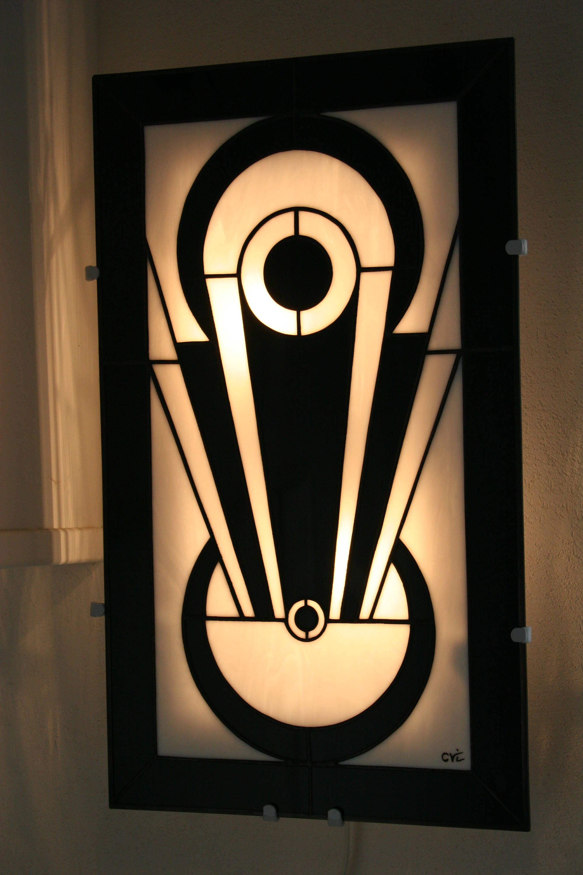 art deco wall lamp tiffany applique tiffany stained. Black Bedroom Furniture Sets. Home Design Ideas