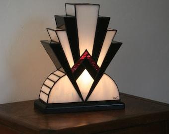 "Tiffany ""1922"" NBR Art Deco Glass Lamp"