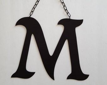 letter m black m large metal m metal letter m wedding decor home decor wedding letter m black letter m office decor ready to ship