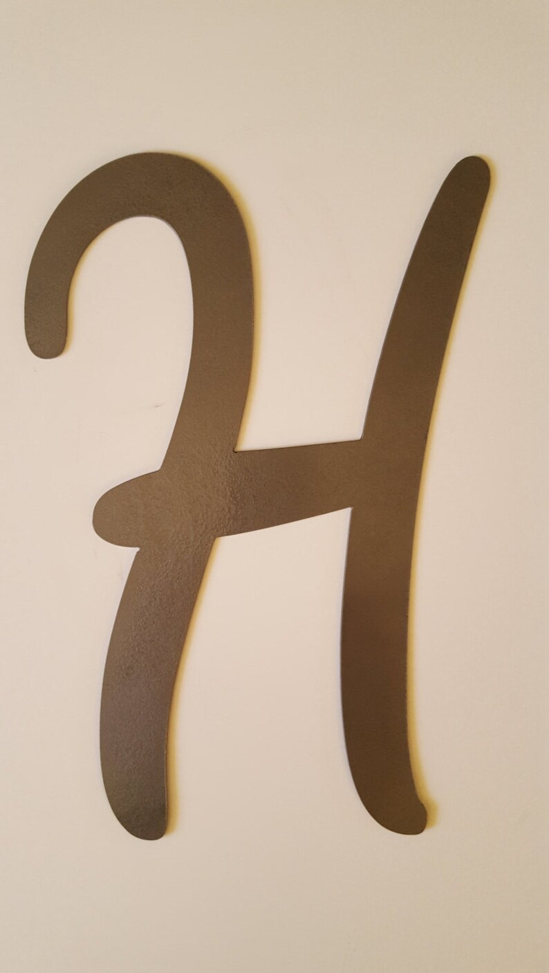 d56fec590572 Letter H Metal Wall Home Decor. For Home or Office. Great