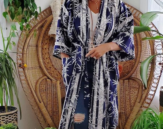 Vintage Cotton Kimono/ Bathrobe