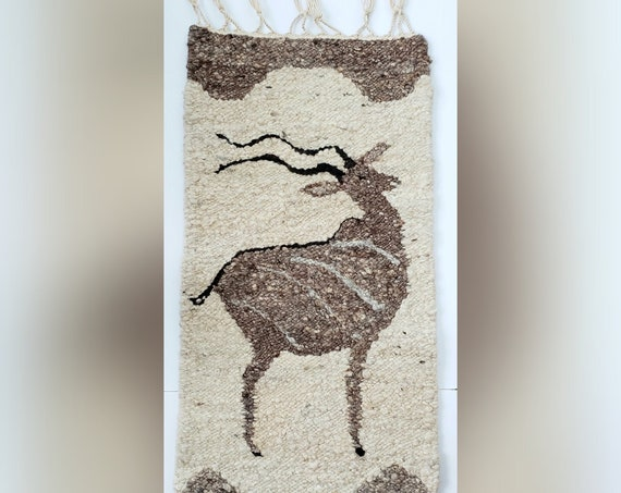 Vintage Wool Wall Tapestry/ Rug