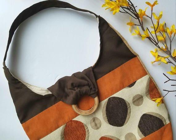 Vintage Bohemian Style Cotton Handbag