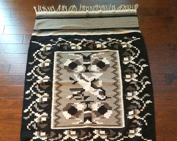 Vintage  Wool Handwoven Blanket/Rug