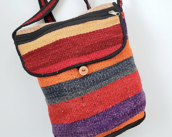 Colorful Vintage Woven Kilin Boho Backpack