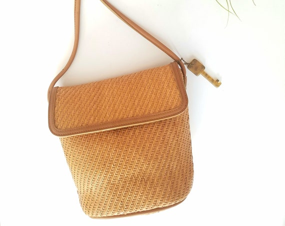 Vintage Fossil Small Crossbody Woven Handbag