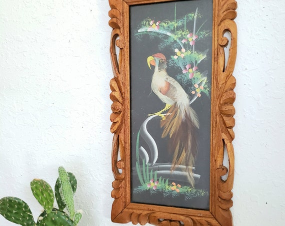 Vintage Colorful Mexican Feathercraft Artwork