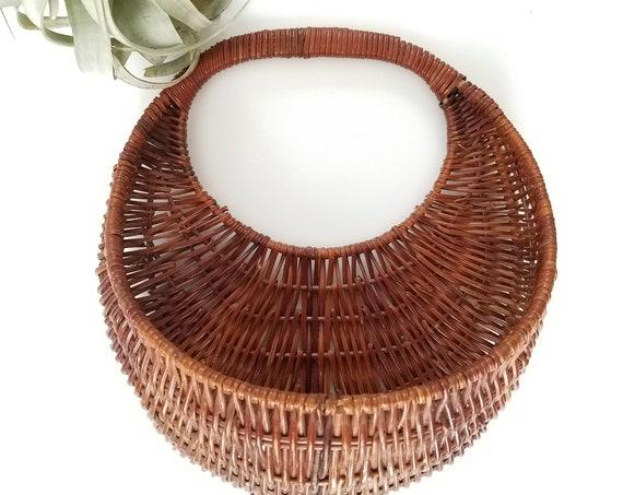 Vintage Wicker Open Front Basket