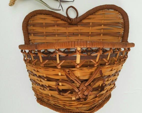 Heart/Butterfly Shaped Wicker Hanging Basket
