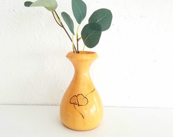 Small Aspen Wood Bud Vase
