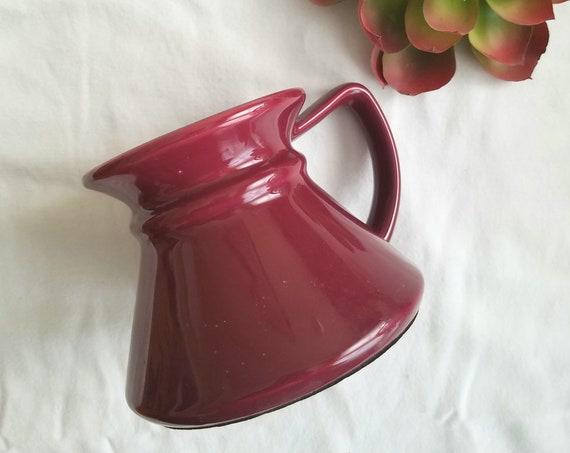 Vintage Burgundy Wide Bottom Travel Mug