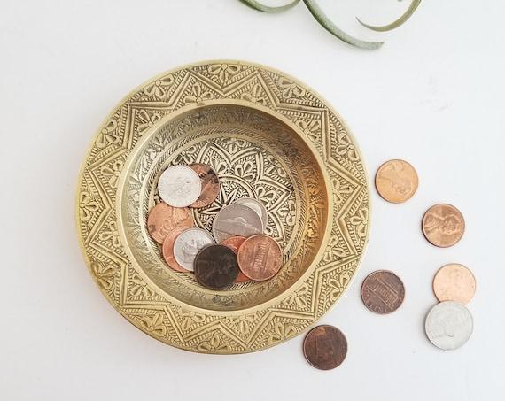Round Small Brass Dish