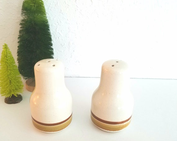 Vintage Mid Century Modern Ceramic Salt and Pepper Shakers